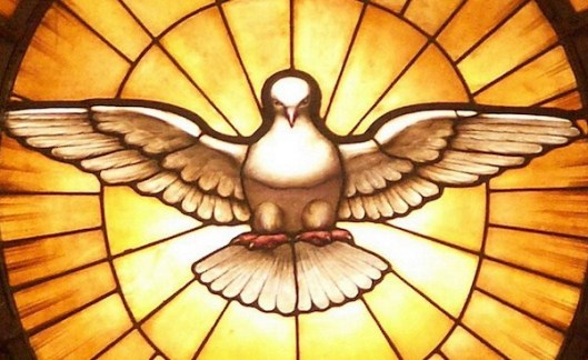 Depiction of the Holy Ghost as a dove, by Gian Lorenzo Bernini, in the apse of Saint Peter'sBasilica, photo by Dnalor 01, own work, CC BY-SA 3.0 (details)
