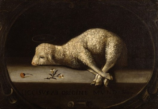 The Sacrificial Lamb, by Josefa de Ayala (Portuguese, ca. 1630-1684 — source/details)